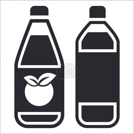 Illustration pour Illustration vectorielle de l'icône d'une bouteille isolée - image libre de droit