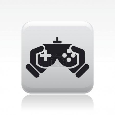 Illustration pour Illustration vectorielle d'une icône isolée de jeu vidéo - image libre de droit