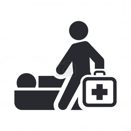Illustration for Vector illustration of single isolated medical icon - Royalty Free Image