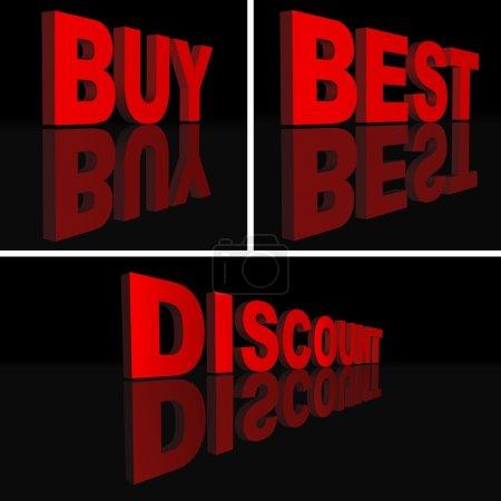 Photo pour Texte 3D - Mots d'affaires comme illustrations - image libre de droit
