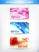 Vector set of gift cards 01