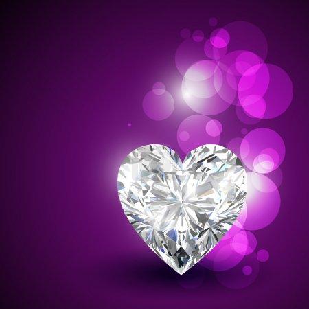 Illustration for Beautiful valentine diamond shape hearts - Royalty Free Image