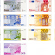Illustration of a pack of all the existent euro no...