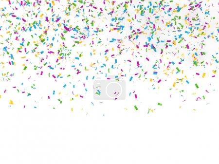 Photo pour Fond festif de confettis rendu 3d - image libre de droit