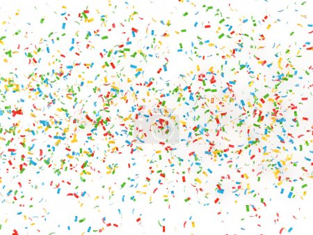 Photo for Festive background of confetti 3d render - Royalty Free Image