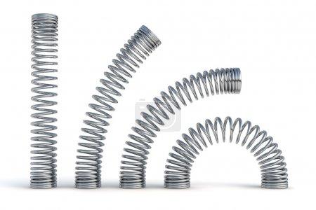 Photo pour Illustration de rendu 3d de ressorts métalliques - image libre de droit