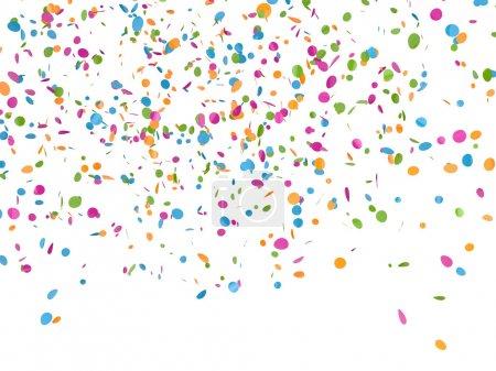 Photo pour Confettis fond festif rendu 3d - image libre de droit
