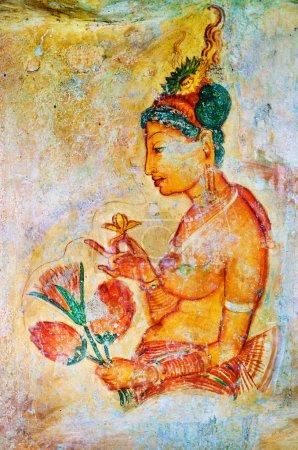 Ancient frescos on mount Sigiriya