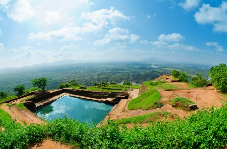 View from mount Sigiriya Sri
