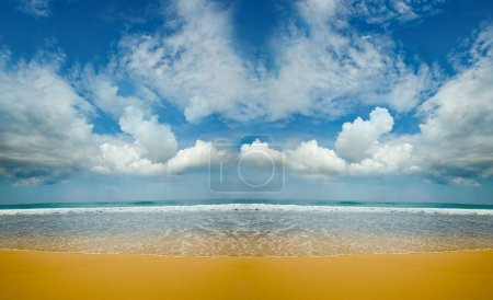 Sandy deserted beach