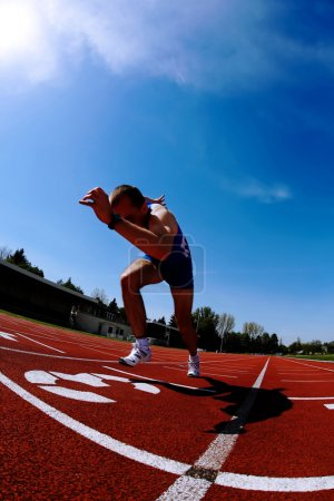 Photo for Acceleration of runner after start - Royalty Free Image