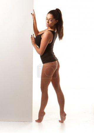 Sexy Voluptuous Woman In Leotard