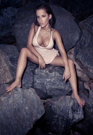 Beautiful Sexy Model On Rocks