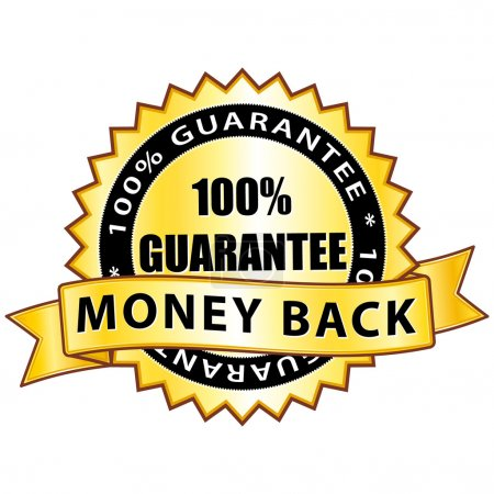 Money back 100% guarantee. Golden label.