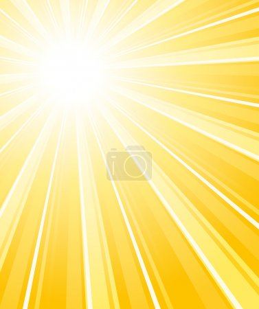 Beautiful summer sunburst. Vector background.