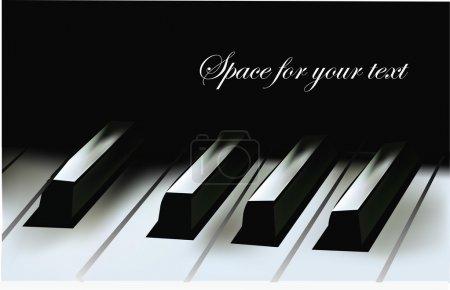 Illustration pour Touches piano réalistes - image libre de droit