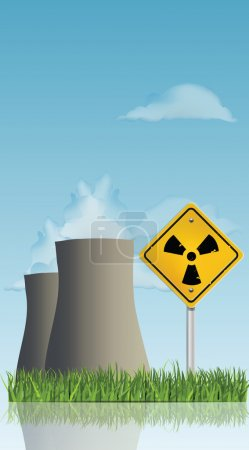 Illustration for Nuclear Power Plant - Royalty Free Image
