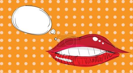 Lips Pop Art