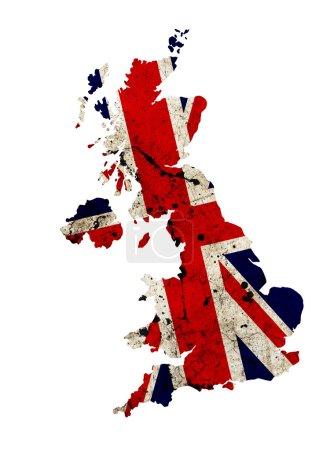 Photo pour Carte de contour de bordure UK isolé sur fond blanc - image libre de droit