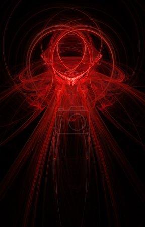 Big abstract fractal on black background