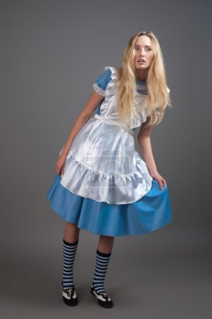 Young pretty girl in fairy-tale dress