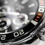 Luxury man watch detail, chronograph close up...