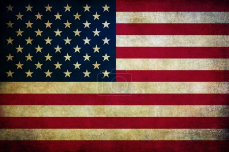 Photo for Vintage American flag - Royalty Free Image