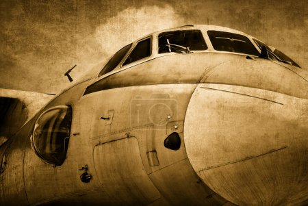 Photo for Old military aircraft, grunge background - Royalty Free Image