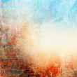 Grunge texture, blue and red color
