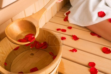 Photo for Rose and sauna - Royalty Free Image