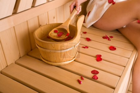 Photo for Woman and sauna - Royalty Free Image