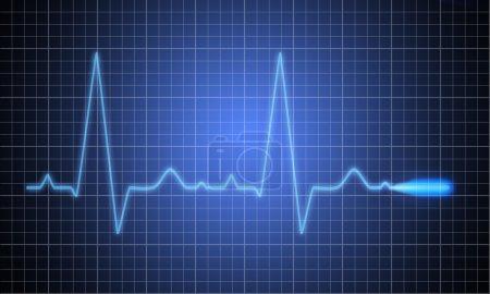 Photo for Medical heart monitor measuring ekg - Royalty Free Image