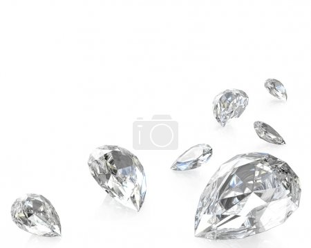Few pear cut diamonds
