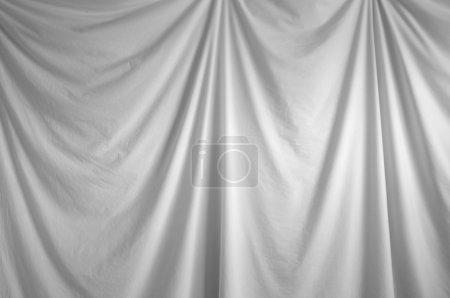 White draped backdrop