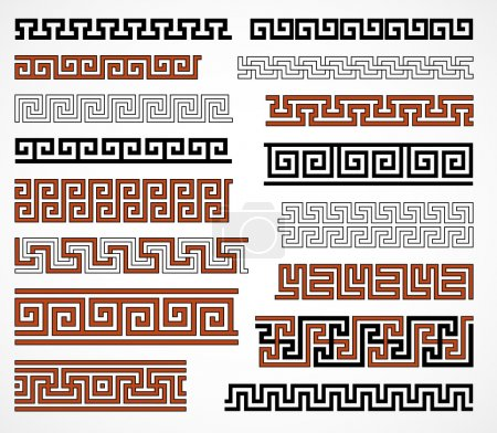 Set of ancient greek style borders for design...
