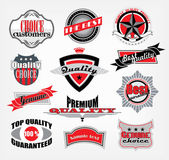 Vintage style quality and premium label set