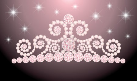 Beautiful wedding diadem , vector illustration