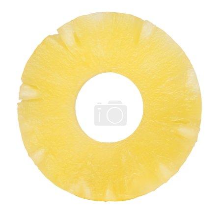 Photo pour Tranche d'ananas isolée sur fond blanc - image libre de droit