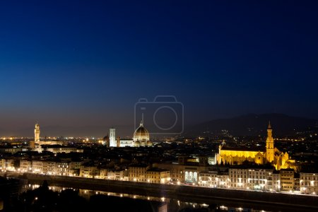 Night scene of florence, italy