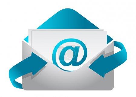 Photo pour E-mail concept illustration design sur fond blanc - image libre de droit