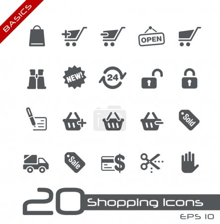 Shopping Icons // Basics