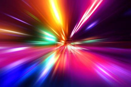 Photo pour Mouvement de vitesse sur route de nuit - image libre de droit