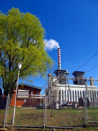 Thermal power station, and the high voltage grid
