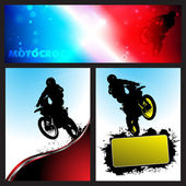 Vector motocross Collection background
