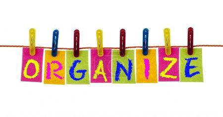Organize word on laundry hook