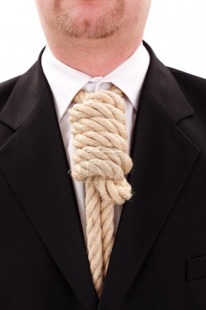 Photo for Gallows rope necktie in place of tie - Royalty Free Image