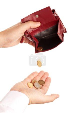 Concept lack of money