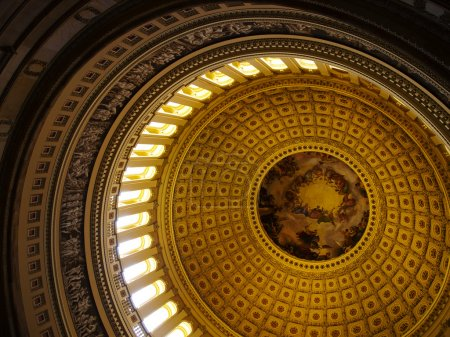 Interior dome of US Capitol, Washington DC