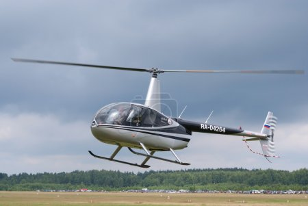 TVER, RUSSIA - JULY 09: Robinson R-44 helicopter h...