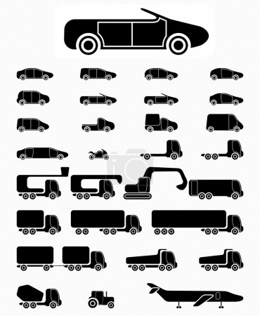 Icon set Vehicles